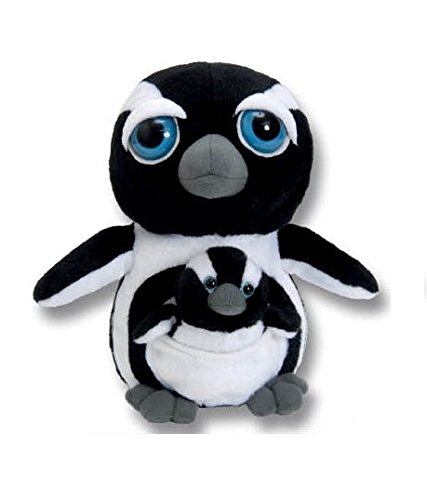 The Petting Zoo Bright Eyes Plush Pocketz Penguin - 10 Inches
