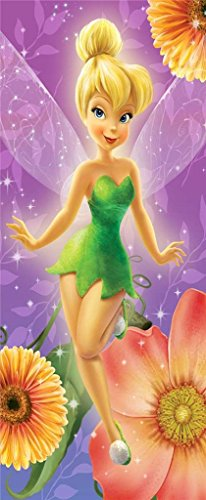 S&L Home Fashion Disney Peter Pan Pink Tinkerbell Clubhouse Fiber Reactive Beach Towel - Floral Tink Fairy