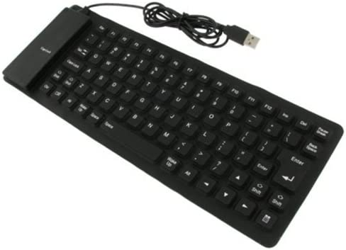 Plegable portátil Enrollable USB 2.0 Teclado Teclado