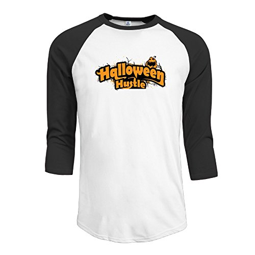 Men's Scary 2016 Halloween Trick Or Treat Men Baseball Jersey 3/4 Sleeve T Shirts