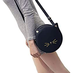 Fashion Bag Cute Cat Ears Shoulderbag Casual Daypack Schoolbag(Black)