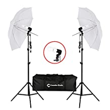 CanadianStudio 2-Head Photography Photo Video Portrait Studio Day Light Umbrella Continuous Lighting Kit