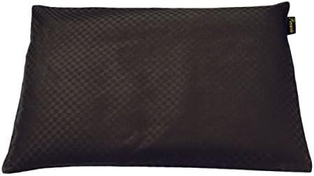 Reowide 俺専用 パイプ枕 サテン 市松模様 (カバー付き) 分割構造 [ 枕 パイプ 高さ調節 ] 抗菌 防臭 35×55cm 《檀》 アマラントブラウン