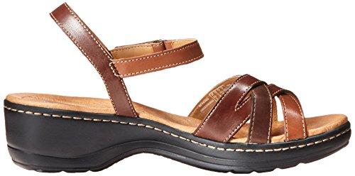Clarks Hayla Pier vestido de la sandalia Brown Multi