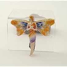 2.5 Inch Dragonfly Fairy Jeweled Jewelry/Trinket Box Figurine