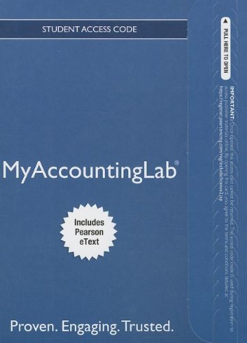 NEW MyAccountingLab with Pearson eText-- Standalone Access Card -- for Horngren's Accounting, The Financial Chapters (My