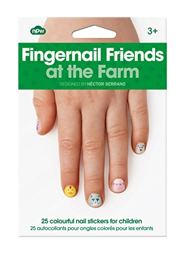 NPW-USA At The Farm Fingernail Friends Nail Stickers (25 Count)