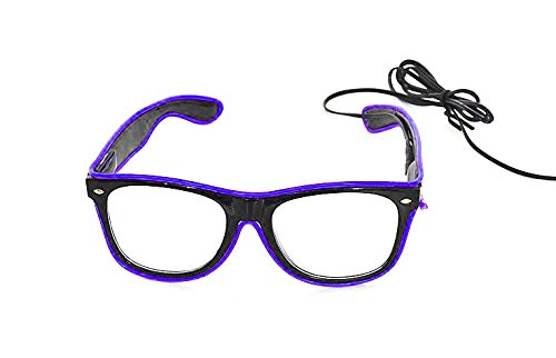 WeGlow International New and Improved El Wire Glasses - Purple