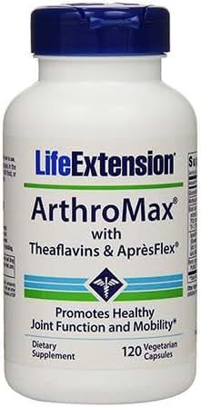 Life Extension Arthromax with Theaflavins & Apresflex Vegetarian Caps, 120 Count