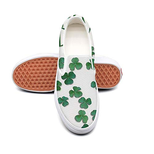 - Happy St. Patrick's Day clover white Boys Sneakers for Men Low Top Wear-Resistant Air Running Shoes