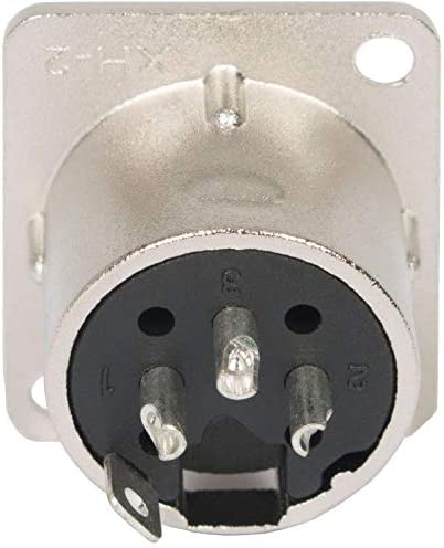 Lot de 5 Embase Prise XLR Male 3 Points M/étal Connecteur /à Souder Fiches Adaptateur Soudure Adaptout Marque Fran/çaise
