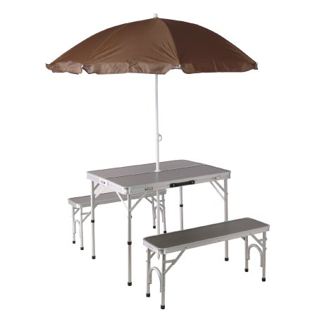 おすすめビーチパラソル10選 パラソル付き 折りたたみテーブル チェアセット