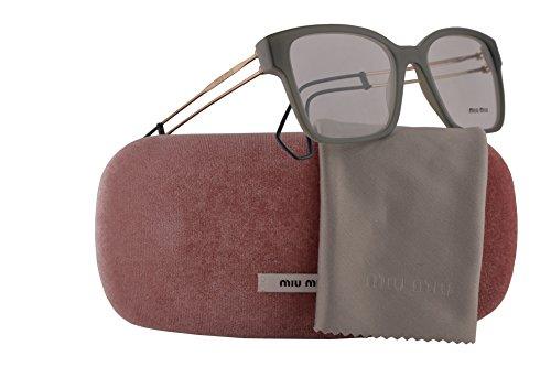 Miu Miu MU02PV Eyeglasses 51-18-145 Green w/Demo Clear Lens USK1O1 MU 02PV VMU02PV VMU (Miu Miu Green)