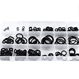 Rubber O-Ring Assortment Kit for Insulation Gasket Washer Seals Air Conditioning Car Auto Vehicle Repair (18 different sizes with Case Organizer) (225pcs Black)