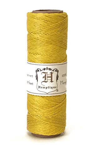 Colored Hemp Twine (Hemp Cord Spool 10lb Yellow 205 Feet)