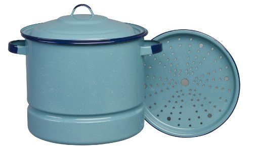 Cinsa 312130 Authentic Hispanic Steamer Pot with Lid and Trivet, 20-Quart