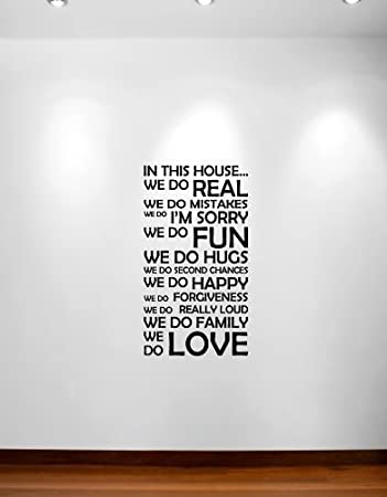 In This House We Do... Vinyl Wall Decal Sticker Family Quote 24u0026quot;