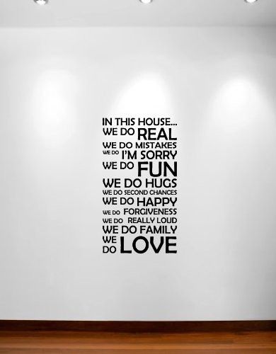 Innovative Stencils 1126 22 MBlack 22-Inch Wide by 40-Inch High in This House We Do Vinyl Wall Decal Sticker Family Quote
