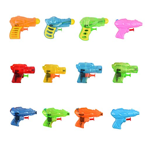 Fun-Here Squirt Guns Fun Summer Toy for Kids Adults,Multicolor Water Gun Blaster in Buck Party Pool Bath Favors Outdoor Indoor Toy(Pack of 12)