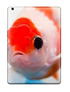 MaritzaKentDiaz Case Cover For Ipad Air - Retailer Packaging Awesome Cute Beautiful Lionhead Goldfish Animal Pet Free Protective Case