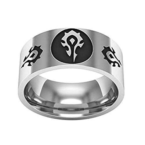 Main Street 24/7 World of Warcraft Horde Logos Stainless Steel Band Ring Assorted Sizes