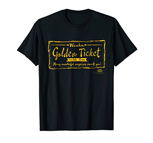 Charlie and the Chocolate Factory Golden Ticket T-Shirt (Charlie And The Chocolate Factory Chapter Questions)
