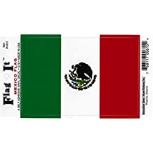 Mexico flag decal for auto, truck or boat