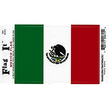 Mexico flag decal for auto truck or boat