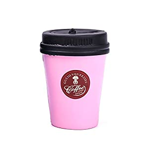 Xinzistar Kawaii Jumbo Slow Rising Squishies Cream Scented Squeeze Kid Toy Phone Charm Gift for Stress Relief (Coffee Mug)