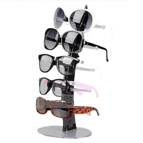 NuoYa005 Balck 5 Pair of Eyeglasses Sunglasses Glasses Sale Show Display Stand Holde