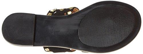 Buffalo Shoes 15bu0219 IMI Suede, Sandalias con Cuña Para Mujer Negro (Black 98)
