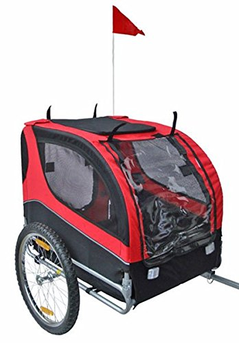 Pet Bike Trailer - Red/Black