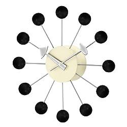 Telechron  Atomic Ball Wall Clock, Black/Silver
