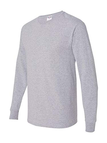 Jerzees Men's Long-Sleeve T-Shirt, Athletic Heather, Large (Tshirt Athletic)
