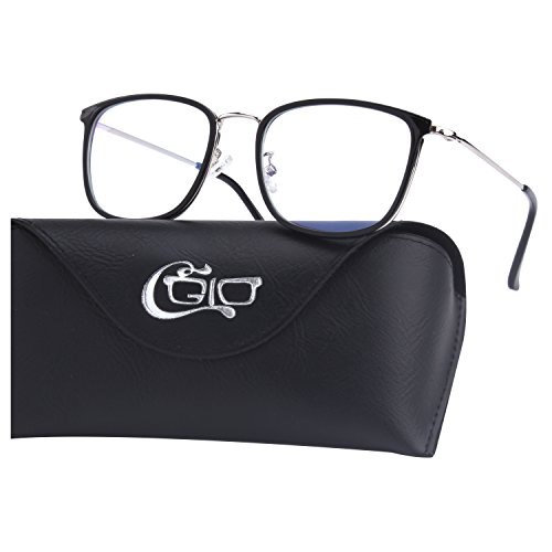 CGID BL941 Blue Light Blocking Glasses Anti Glare Fatigue Safety Computer Glasses with Premium TR90 Metal Frame Transparent Lens by CGID