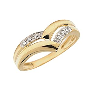 0.03 Carat ctw 14k Gold Round White Diamond Chevron Ring Anniversary Wedding Fashion Band