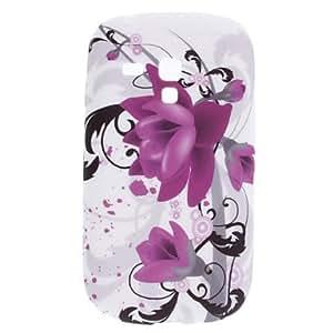 TY-Flor púrpura Caso Patrón suave para Samsung Galaxy S3 Mini I8910