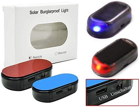 Usb Solar Auto Alarmanlage Dummy Imitation Elektronik
