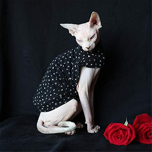 HCYD Ropa de Gato Negro Ropa de Gato esfinge Ropa para Mascotas Negro s
