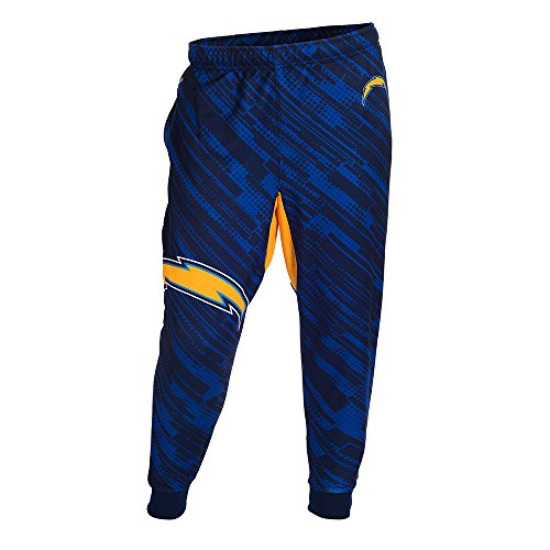 FOCO NFL San Diego Chargers Men's Polyester Jogger Pants, Blue, Large