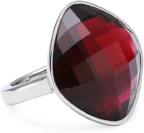 ESPRIT Women's Stainless Steel Glass Rings