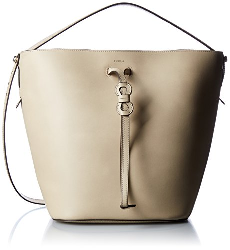 Furla Women's Vittoria Medium Drawstring Bag, Acero, One Size