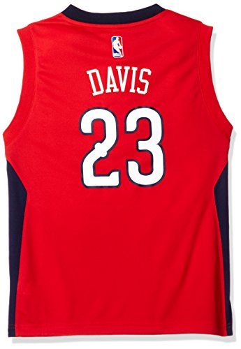 NBA Youth 8-20 New Orleans Pelicans Davis Replica Alternate Jersey-Red-XL(18)