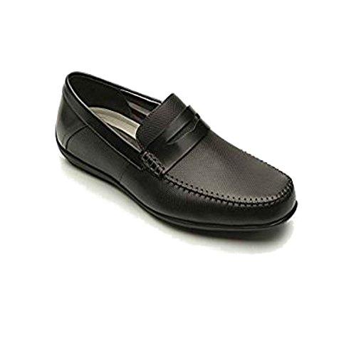 Negro Color Negro Shoes Talla 42 EU 40 Hombre de Piel Para Flexi EU Negro Mocasines vqYqP