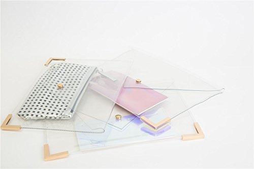 Zarapack - Cartera de mano para mujer transparente transparente M estilo 3