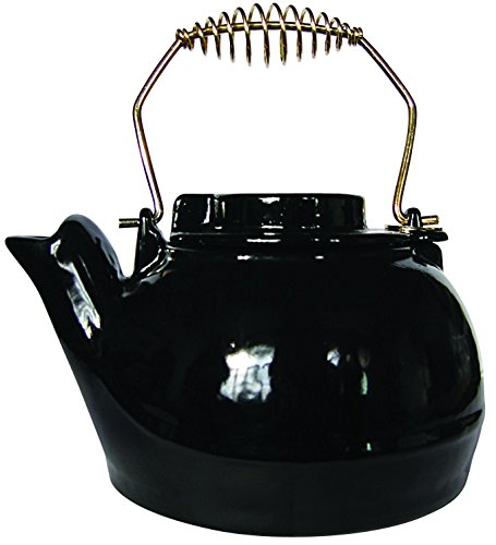 Uniflame Porcelain Coated Kettle, 2.5 qurt, Black