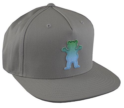 Grizzly Griptape OG Bear Snapback Hat (Grey)