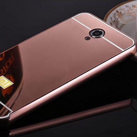 Achievess (TM) nuevo lujo funda para Xiaomi Redmi Note 2 aluminio marco de metal Espejo acrílico Back Cover Para XiaoMi Redmi – Carcasa Bolsa capa, ...