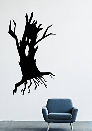 Halloween Wall Decals – Vinyl Halloween Stickers Men Kids – Horror Stickers Car Truck Mouse Animal Silhouette Black Undead LM1515 ()