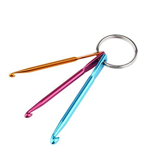 4,0 5.0MM Llavero con Ganchillo Ganchos de Aluminio Crafts Cadena Key Knitting HarveyRudol85 3,0